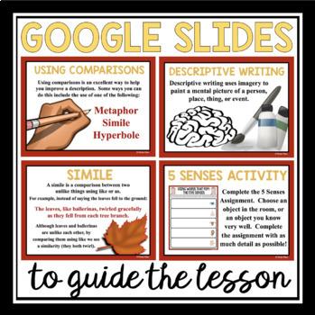 DESCRIPTIVE WRITING - PAPERLESS DIGITAL GOOGLE DRIVE / GOOGLE CLASSROOM