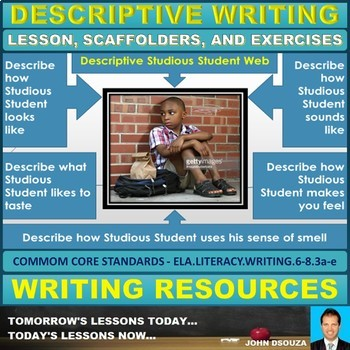 DESCRIPTIVE WRITING: LESSON & WORKSHEETS