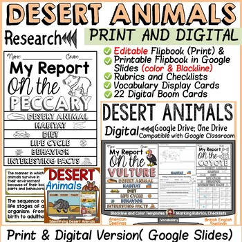 ANIMAL REPORT: DESERT ANIMALS: INFORMATIVE WRITING
