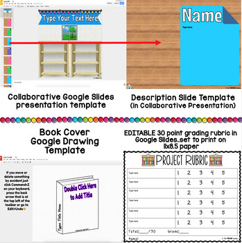 design a book cover collaborative class project by the techie teacher