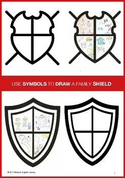 DESIGN A FAMILY SHIELD - MEDIA LITERACY - SIGNS & SYMBOLS