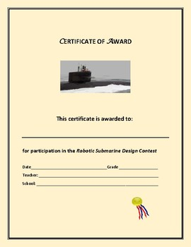 DESIGN A ROBOTIC SUBMARINE: MG, GIFTED & TALENTED, GRADES 8-12