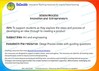 DESIGN PROCESS - Images with guiding questions