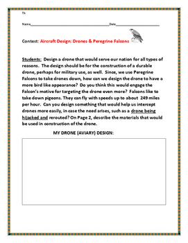 DESIGNING A DRONE & THE PEREGRINE FALCON