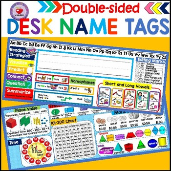 DESK NAME TAGS (DOUBLE-SIDED)