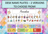 DESK NAME TAGS/ NAME PLATE QLD font LETTERS, NUMBERS to 20