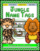 Jungle / Rainforest Theme Desk Name Tags - EDITABLE