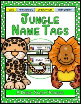 Jungle / Rainforest Theme Desk Name Tags - EDITABLE