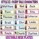 DESK PLATES: FAIRY TALE