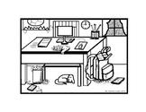 DESK SCENE  ACTIVITY - CLIP ART - SPANISH -ADAPTABLE