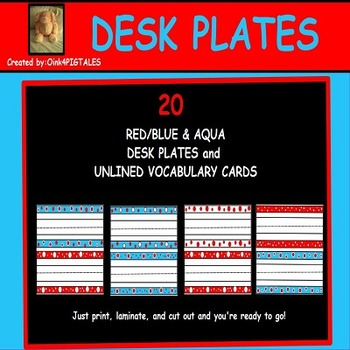 READ ACROSS AMERICA DAY and FOURTH OF JULY NAME PLATES
