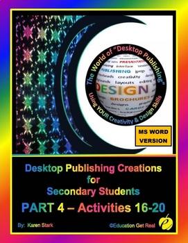 """DESKTOP PUBLISHING - Part 4 Activities: """"Introduction to Design Principles"""""""