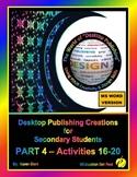 """DESKTOP PUBLISHING - Part 4 Activities: """"Introduction to D"""
