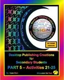 """DESKTOP PUBLISHING - Part 5 Activities: """"Introduction to D"""