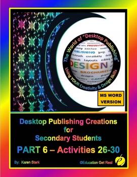 """DESKTOP PUBLISHING - Part 6 Activities: """"Introduction to Design Principles"""""""