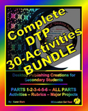 "DESKTOP PUBLISHING COMPLETE BUNDLE - PARTS 1-6 ""Activities-Rubrics-EVERYTHING!"