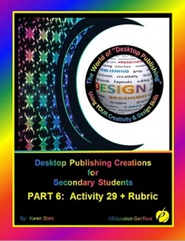 "DESKTOP PUBLISHING (Comp.Apps/ Wd.Proc.) ""#29 - 12-Page Recipe Book"""