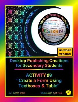 "DESKTOP PUBLISHING (Comp.Apps/ Wd.Proc.) ""#9 School Store Order Form"""