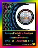 """DESKTOP PUBLISHING - Part 2 Activities: """"Introduction to D"""