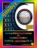"""DESKTOP PUBLISHING - Part 3 Activities: """"Introduction to Design Principles"""""""