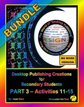 """DESKTOP PUBLISHING - Part 3 Activities: """"Introduction to D"""