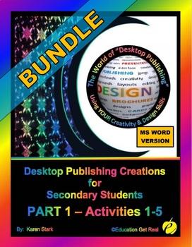 """DESKTOP PUBLISHING - Part 1 Activities: """"Introduction to Design Principles"""""""