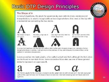 """DESKTOP PUBLISHING (DTP) POWERPOINT: """"Basic DTP Design Principles"""""""