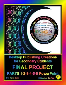 "DESKTOP PUBLISHING FINAL PROJECT: PARTS 1-6 ""Assessing all 30 Activities"""
