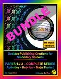 """DESKTOP PUBLISHING PARTS 1-2-3 BUNDLE - """"ALL Activities, R"""