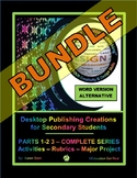 "DESKTOP PUBLISHING PARTS 1-2-3 BUNDLE (Word /Alternative) – ""Activities & MORE"""
