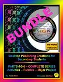 """DESKTOP PUBLISHING PARTS 4-5-6 BUNDLE - """"ALL Activities, R"""