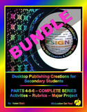 "DESKTOP PUBLISHING PARTS 4-5-6 BUNDLE - ""ALL Activities, Rubrics & Project"""