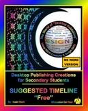 """DESKTOP PUBLISHING TIMELINE - Parts 1-2-3-4-5-6 -  """"Lesson"""