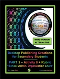 "DESKTOP PUBLISHING (WORD ALTERNATIVE) ""#8 School Admin. Organization Chart"""
