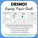 DESMOS Graphing Project Bundle (slope intercept form)