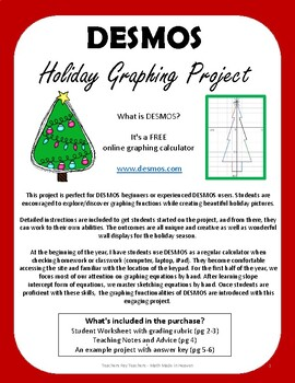 Desmos Holiday Graphing Project Slope Intercept Form By Math Made