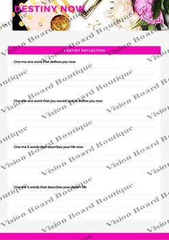 DESTINY NOW's Worksheet - Destiny Reflection -Worksheet#3