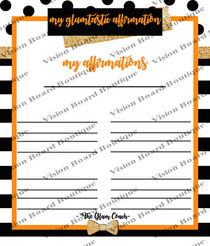DESTINY Orange Affirmations Sheet printable spiritual growth motivation
