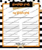 DESTINY Orange Goals Planner printable spiritual growth motivation spiritual