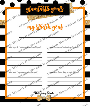 DESTINY Orange Goals Planner printable spiritual growth motivation spiritual
