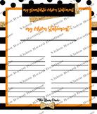 DESTINY orange vision sheet printable spiritual growth motivation spiritual goal