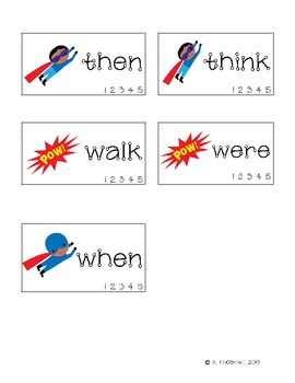 DESTROY the Sight Words: Practice with 1st Grade Sight Words--Super Hero style