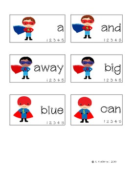 DESTROY the Sight Words: Practice with Sight Words--Super Hero style