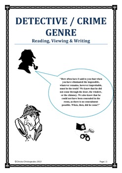 DETECTIVE / CRIME GENRE: Reading, Viewing & Writing
