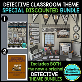 DETECTIVE / MYSTERY THEME Decor - 2 EDITABLE Clutter-Free