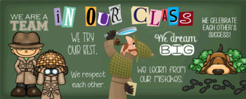 DETECTIVE / spy - Classroom Decor: LARGE BANNER, In Our Class - horizontal