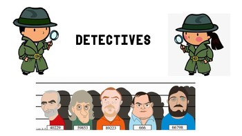 DETECTIVES SPEAKING GAME