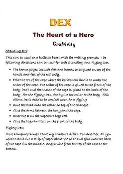 Journeys 2nd grade, Unit 4, Lesson 20 DEX: The Heart of a Hero Craftivity