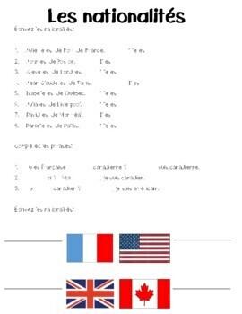 DF Bleu - Unité 1 - la rentrée, les accents, les nationalités and greetings