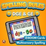 DGE and GE Spelling Rule Digital Boom Task Cards
